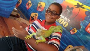 Jamaica Road Trip: Jamaica Zoo Petting Session with Iguana