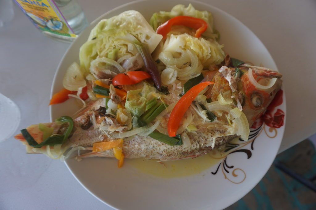 Keto in Jamaica fish at Eggy's on the Beach