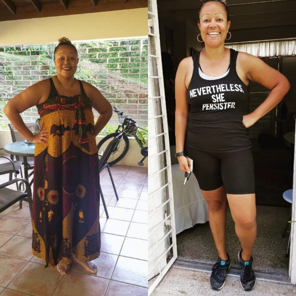 Weight loss transformation on keto.