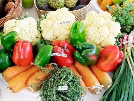 Fresh local vegetables