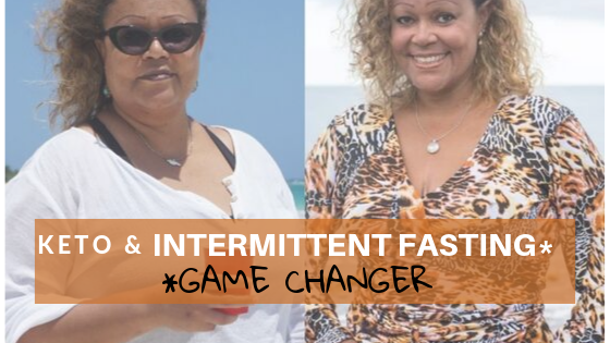 Weight loss transformation on keto & intermittent fasting